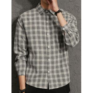 Cotton Blends Long Sleeve Checked Shirt -