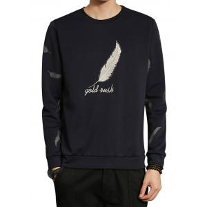 Feather Graphic Embroidered Sweatshirt