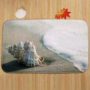 Beach Conch Pattern 3 Pcs Bath Mat Toilet Mat - CAMEL