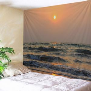 Beach Sunset Wave Print Tapestry Wall Hanging Art Decoration
