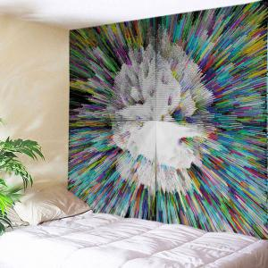 Colorful Radial Print Tapestry Wall Hanging Art Decoration - Colormix - W79 Inch * L59 Inch