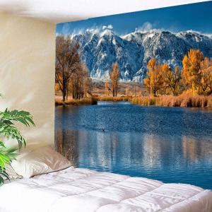 Snow Mountains Lakeside Waterproof Hanging Tapestry
