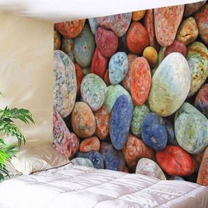 Colorful Stones Print Tapestry Wall Hanging Art Decoration - Colorful - W91 Inch * L71 Inch