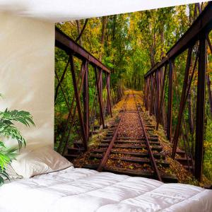 Forest Railway Wall Art Throw Tapestry