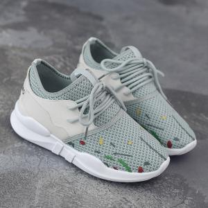 Graffitti Breathable Mesh Sneakers - GRAY 40