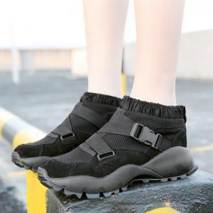 Color Block Buckle Straps Mesh neakers -