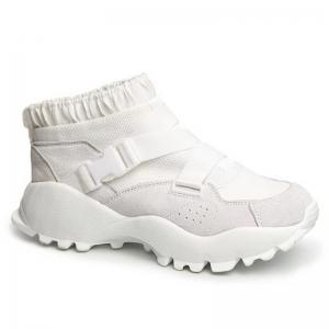 Color Block Buckle Straps Mesh neakers - White - 38