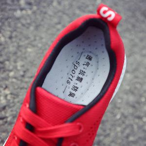 Hollow Out Breathable Mesh Sneakers - RED 39