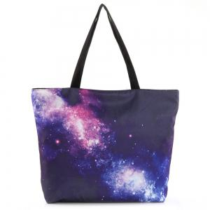 Nylon Starry Sky Print Shopper Bag