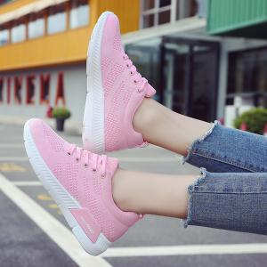 Hollow Out Breathable Mesh Sneakers - PINK 38