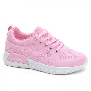 Hollow Out Breathable Mesh Sneakers - Pink - 38