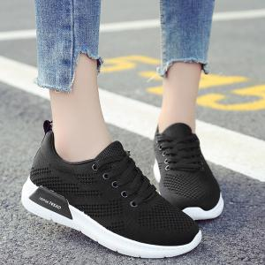 Hollow Out Breathable Mesh Sneakers - BLACK 39