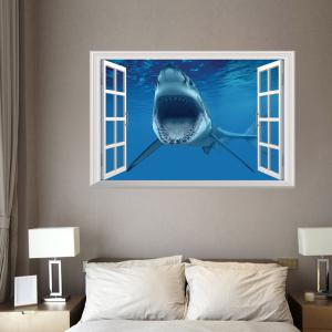 Window Shark Removable 3D Wall Art Sticker