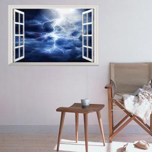Window Lightning Removable 3D Wall Art Sticker