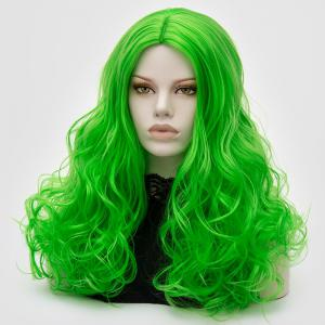 Long Middle Part Fluffy Layered Wavy Lolita Cosplay Wig -