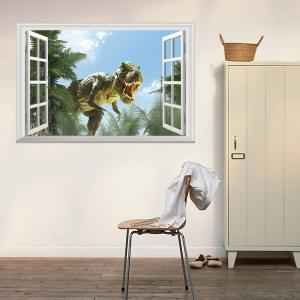 Window Dinosaur Removable 3D Wall Art Sticker