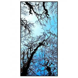 Sky and Branches Print Polyester Soft Bath Towel