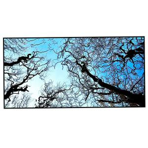 Sky and Branches Print Polyester Soft Bath Towel -