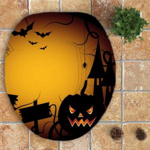 3 Pieces Halloween Spider Imprimé Mats De Salle De Bain Set -