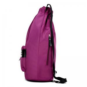 Nylon String Letter Print Backpack - PURPLE