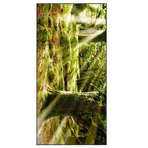 Natural Forest Print Soft Polyester Bath Towel