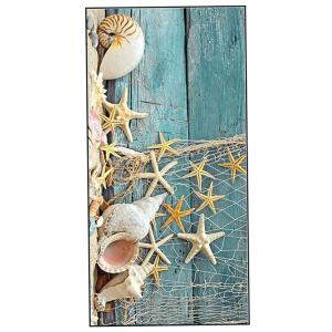 Starfish Wood Grain Print Soft Bath Towel