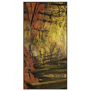 Polyester Autumn Forest Print Bath Towel