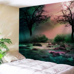 Trees Streams Print Tapestry Wall Hanging Art Decoration