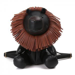 Faux Leather Lion Shaped Backpack