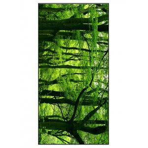 Forest Scenery Print Polyester Soft Bath Towel