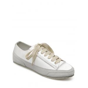 Casual Suede Insert Satin Sneakers