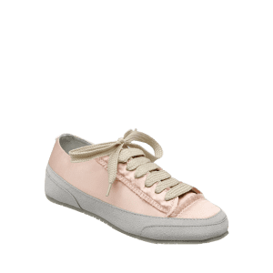 Casual Suede Insert Satin Sneakers - CHAMPAGNE 39