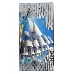 Soft Polyester Sail Boat Printed Bath Towel