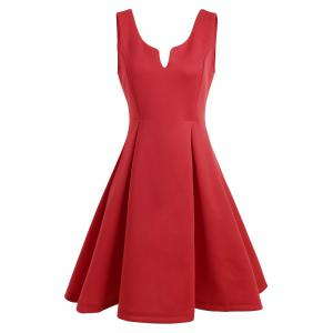 A Line Sleeveless Open Back Club Dress