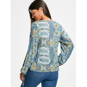 Chemisier à manches longues Paisley Low Cut - Multicolore 2XL