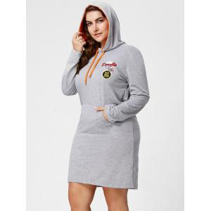 Plus Size Front Pocket Sweatshirt Dress with Hooded