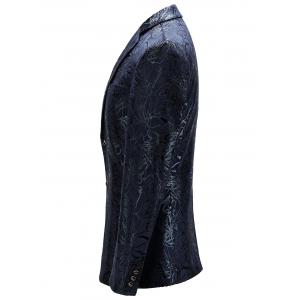 Single Breasted Abstract Printed Blazer - PURPLISH BLUE 52