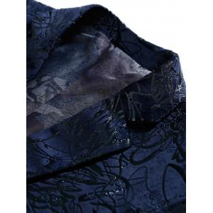 Single Breasted Abstract Printed Blazer - PURPLISH BLUE 58