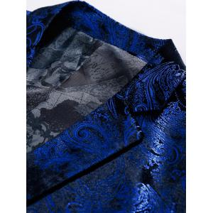 Single Breasted Floral Gilding Blazer - ROYAL 50