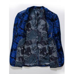 Single Breasted Floral Gilding Blazer - ROYAL 56