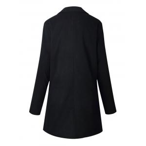 Longline Slim Fit Lapel Blazer - BLACK M