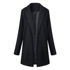 Longline Slim Fit Lapel Blazer - Black - Xl