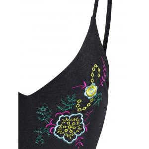 High Waisted Embroidered Plus Size Swimsuit -