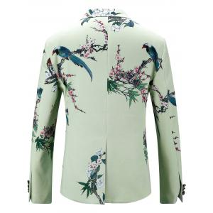 Single Breasted Vintage Floral Print Blazer -