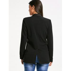 Back Slit Double Breasted Lapel Blazer -