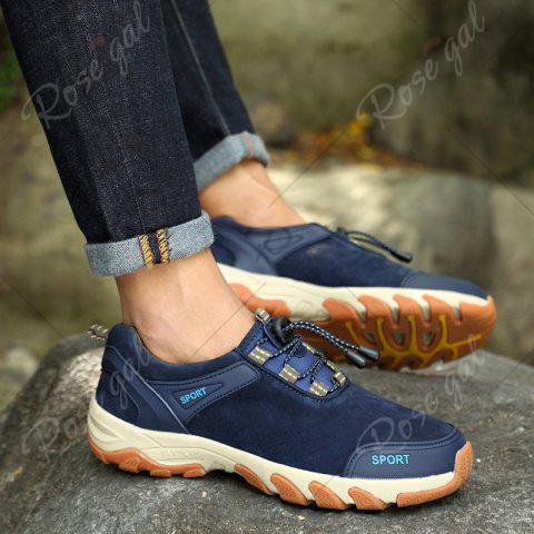 Sale Color Block Athletic Sports Casual Shoes - 40 BLUE Mobile