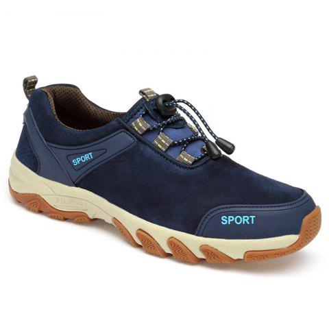 Hot Color Block Athletic Sports Casual Shoes - 40 BLUE Mobile