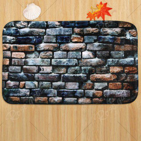 Online Brick Wall Pattern 3 Pcs Bath Mat Toilet Mat - BLUE GRAY  Mobile