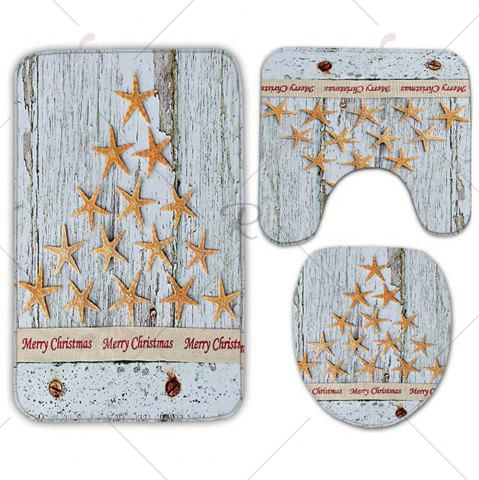 Buy Starfish Wood Grain 3Pcs Christmas Toilet Bath Rug Set - GREY WHITE  Mobile