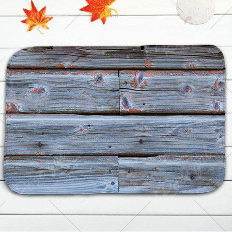 Buy Wood Grain Print 3Pcs Toilet Bath Rug Set - BLUE GRAY  Mobile